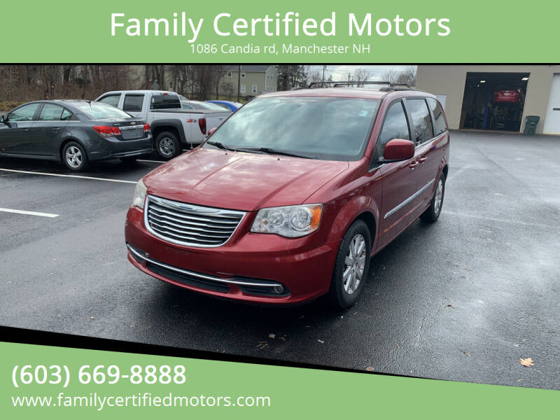 2013 Chrysler Town and Country for sale at Family Certified Motors in Manchester NH