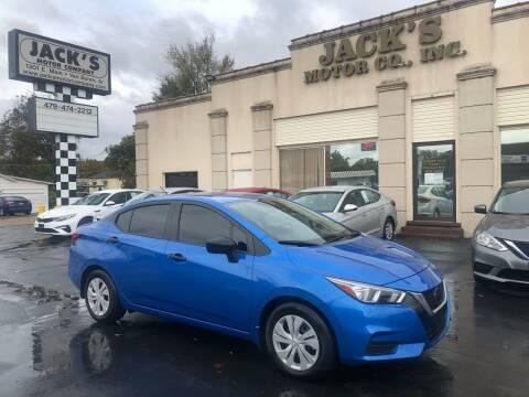 2020 Nissan Versa for sale at JACK'S MOTOR COMPANY in Van Buren AR
