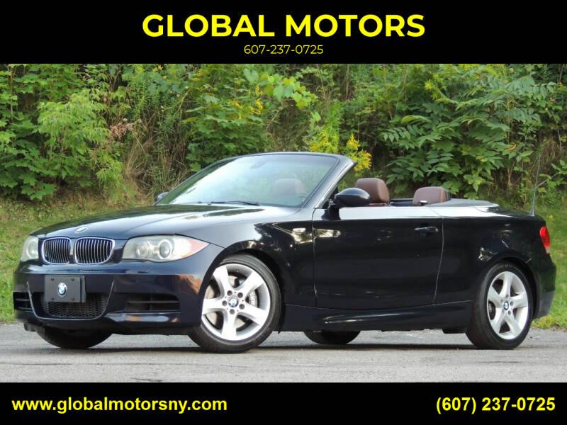 2009 BMW 1 Series for sale at GLOBAL MOTORS in Binghamton NY