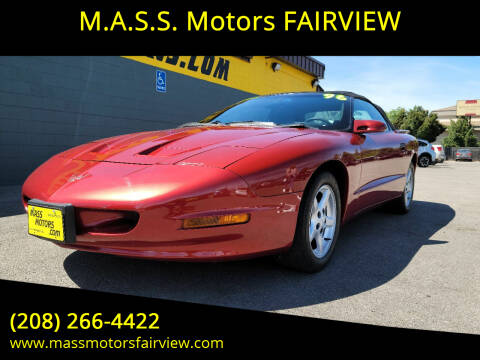 1997 Pontiac Firebird for sale at M.A.S.S. Motors - Fairview in Boise ID
