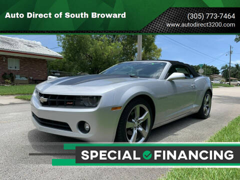 2012 Chevrolet Camaro for sale at Auto Direct of South Broward in Miramar FL