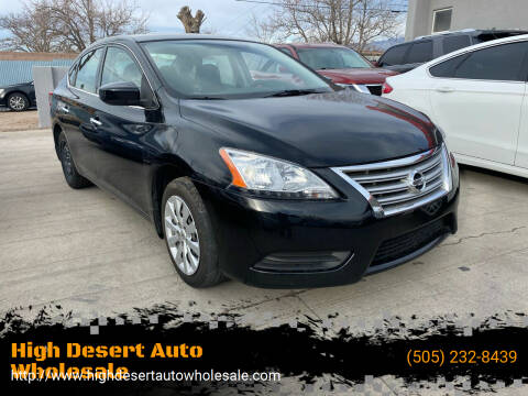 2015 Nissan Sentra for sale at High Desert Auto Wholesale in Albuquerque NM