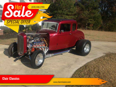 1932 Ford Coupe for sale at Clair Classics in Westford MA