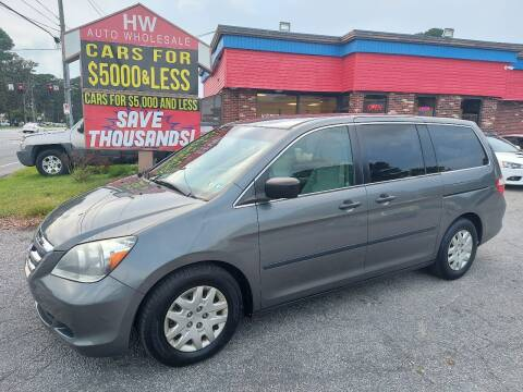 2007 Honda Odyssey for sale at HW Auto Wholesale in Norfolk VA