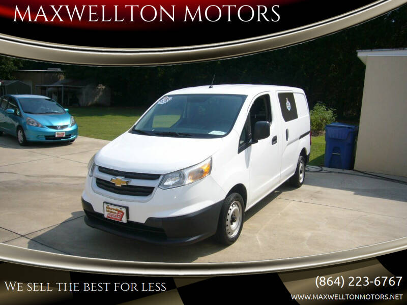 2016 Chevrolet City Express Cargo for sale at MAXWELLTON MOTORS in Greenwood SC
