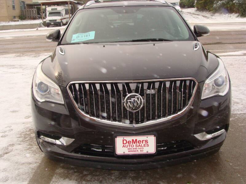 2015 Buick Enclave for sale at DeMers Auto Sales in Winner SD