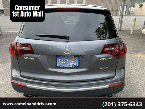 2012 Acura MDX for sale at Consumer 1st Auto Mall in Hasbrouck Heights NJ