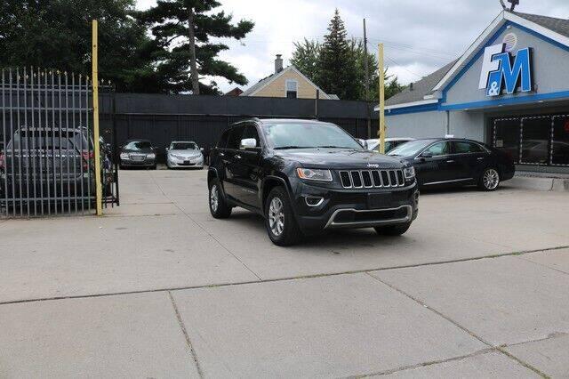 2015 Jeep Grand Cherokee for sale at F & M AUTO SALES in Detroit MI