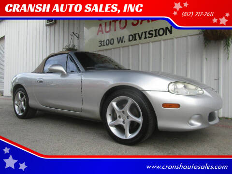 2001 Mazda MX-5 Miata for sale at CRANSH AUTO SALES, INC in Arlington TX