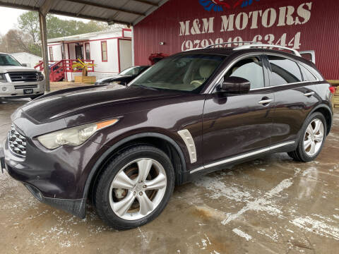 2010 Infiniti FX35 for sale at M & M Motors in Angleton TX