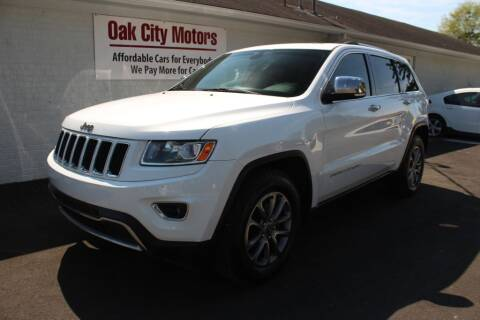 2014 Jeep Grand Cherokee for sale at Oak City Motors in Garner NC
