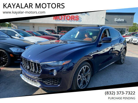 2017 Maserati Levante for sale at KAYALAR MOTORS in Houston TX