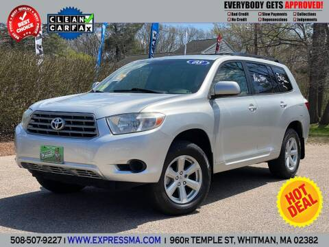 2008 Toyota Highlander for sale at Auto Sales Express in Whitman MA