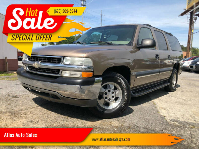 2003 Chevrolet Suburban for sale at Atlas Auto Sales in Smyrna GA