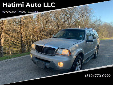 2003 Lincoln Aviator for sale at Hatimi Auto LLC in Buda TX