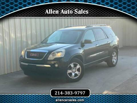 2011 GMC Acadia for sale at Allen Auto Sales in Dallas TX