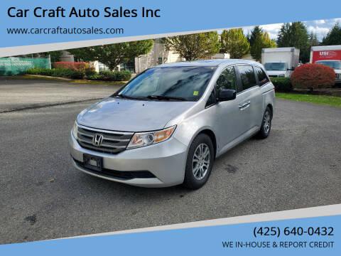2011 Honda Odyssey for sale at Car Craft Auto Sales Inc in Lynnwood WA