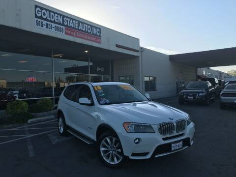 2014 BMW X3 for sale at Golden State Auto Inc. in Rancho Cordova CA