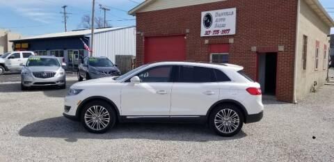 2016 Lincoln MKX for sale at DANVILLE AUTO SALES in Danville IN