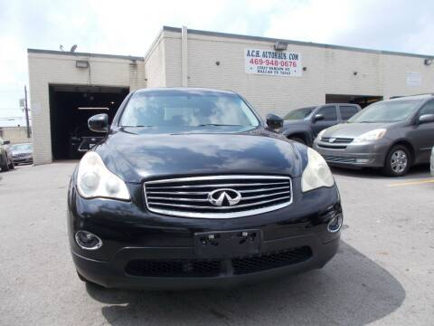 2011 Infiniti EX35 for sale at ACH AutoHaus in Dallas TX