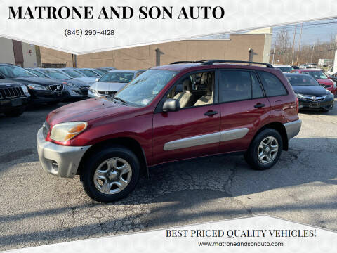 2004 Toyota RAV4 for sale at Matrone and Son Auto in Tallman NY