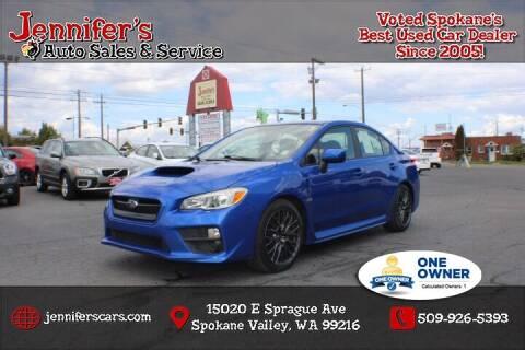 2016 Subaru WRX for sale at Jennifer's Auto Sales in Spokane Valley WA