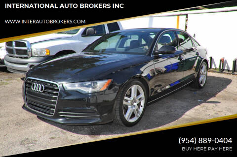 2014 Audi A6 for sale at INTERNATIONAL AUTO BROKERS INC in Hollywood FL