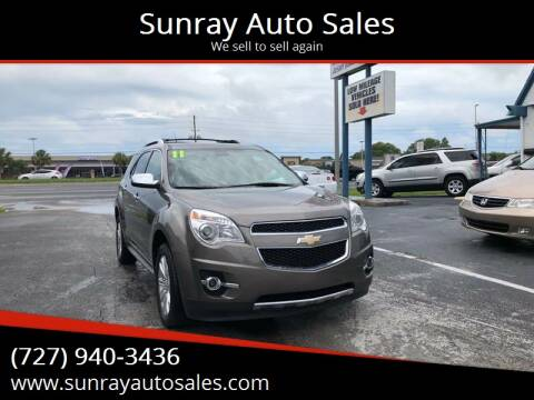 2011 Chevrolet Equinox for sale at Sunray Auto Sales Inc. in Holiday FL