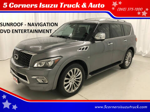 2016 Infiniti QX80 for sale at 5 Corners Isuzu Truck & Auto in Cedarburg WI