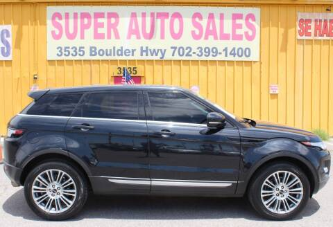 2012 Land Rover Range Rover Evoque for sale at Super Auto Sales in Las Vegas NV