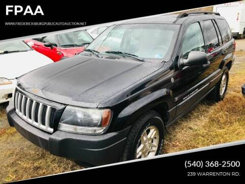 2004 Jeep Grand Cherokee for sale at FPAA in Fredericksburg VA