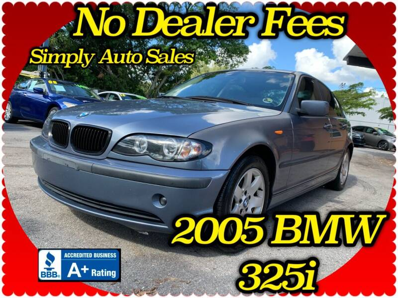 2005 BMW 3 Series for sale at Simply Auto Sales in Palm Beach Gardens FL