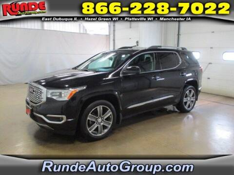 2017 GMC Acadia for sale at Runde PreDriven in Hazel Green WI