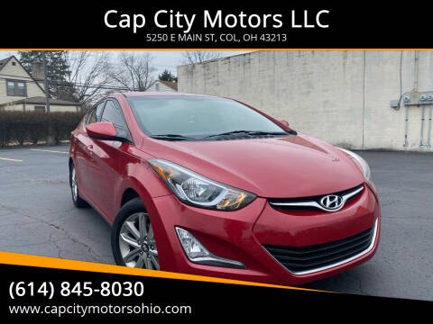 2016 Hyundai Elantra for sale at Cap City Motors LLC in Columbus OH