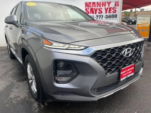 2019 Hyundai Santa Fe for sale at Manny G Motors in San Antonio TX