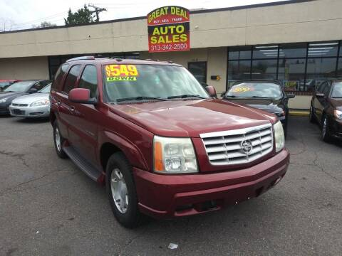 2003 Cadillac Escalade for sale at GREAT DEAL AUTO SALES in Center Line MI