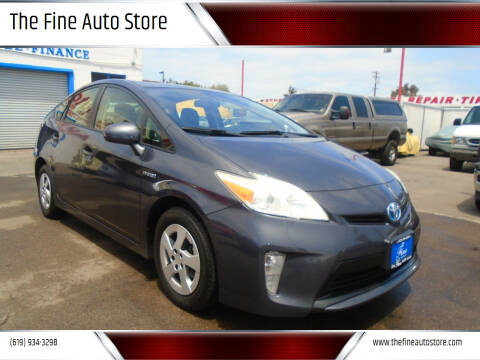 2012 Toyota Prius for sale at The Fine Auto Store in Imperial Beach CA