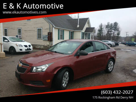 2012 Chevrolet Cruze for sale at E & K Automotive in Derry NH