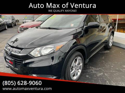 2016 Honda HR-V for sale at Auto Max of Ventura in Ventura CA