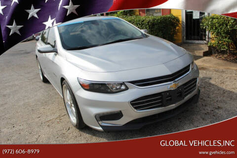 2016 Chevrolet Malibu for sale at Global Vehicles,Inc in Irving TX