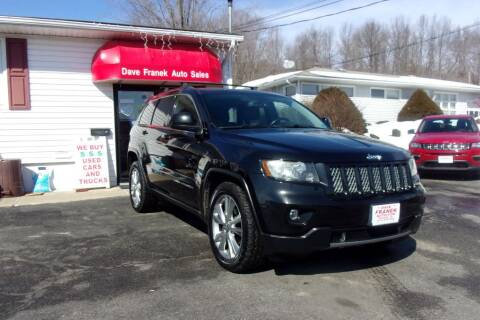 2012 Jeep Grand Cherokee for sale at Dave Franek Automotive in Wantage NJ
