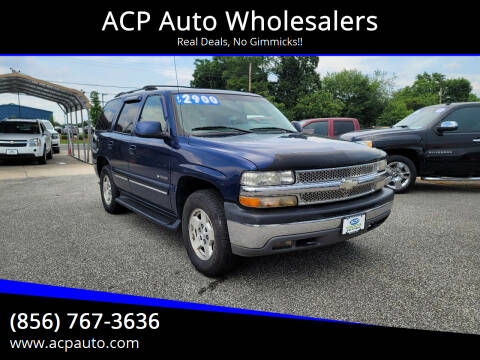 2001 Chevrolet Tahoe for sale at ACP Auto Wholesalers in Berlin NJ