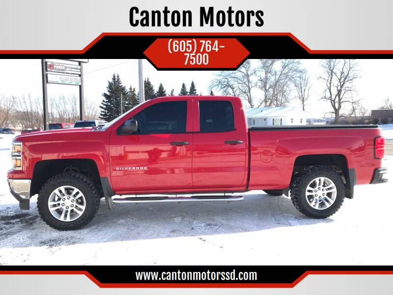 2014 Chevrolet Silverado 1500 for sale at Canton Motors in Canton SD