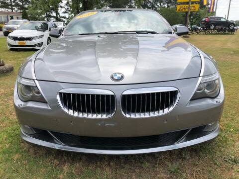 2010 BMW 6 Series for sale at Greenville Motor Company in Greenville NC