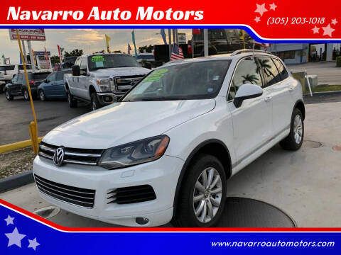 2012 Volkswagen Touareg for sale at Navarro Auto Motors in Hialeah FL