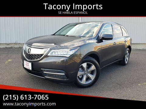2015 Acura MDX for sale at Tacony Imports in Philadelphia PA