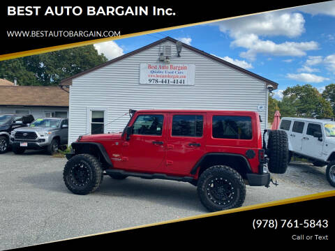 2012 Jeep Wrangler Unlimited for sale at BEST AUTO BARGAIN inc. in Lowell MA