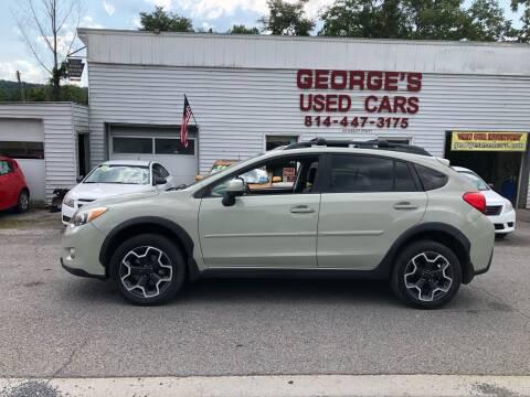 2013 Subaru XV Crosstrek for sale at George's Used Cars Inc in Orbisonia PA