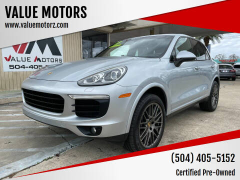 2017 Porsche Cayenne for sale at VALUE MOTORS in Kenner LA