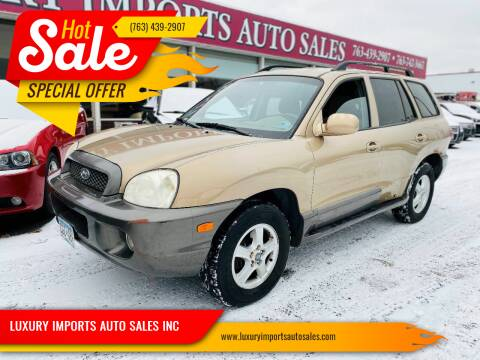 2004 Hyundai Santa Fe for sale at LUXURY IMPORTS AUTO SALES INC in North Branch MN